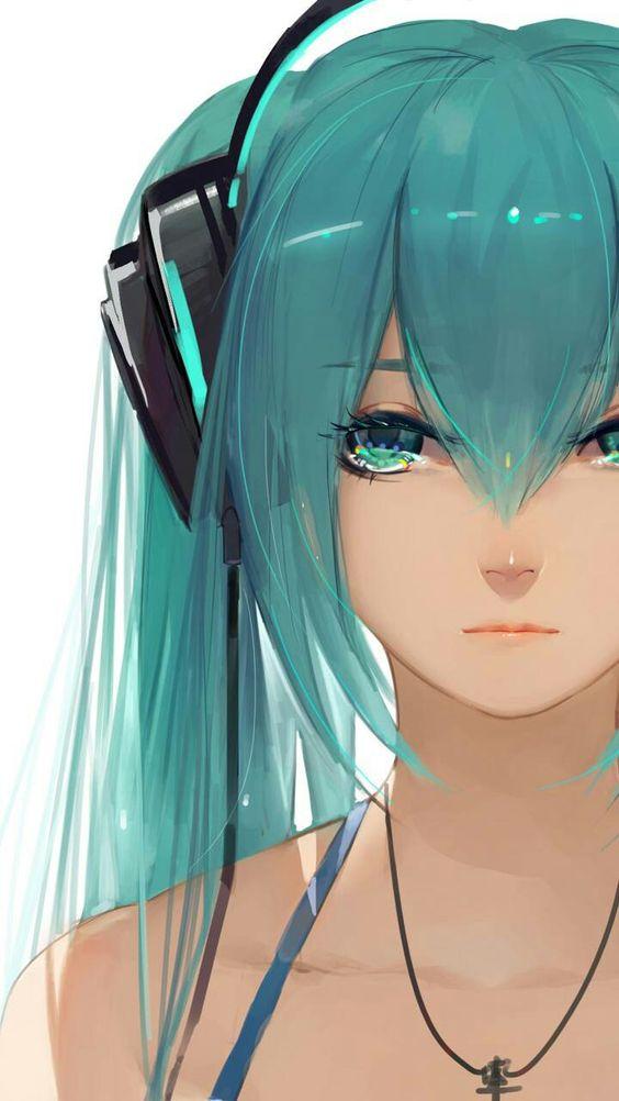 Красивые арт аниме картинки глаза девушек, их лицо - подборка 7