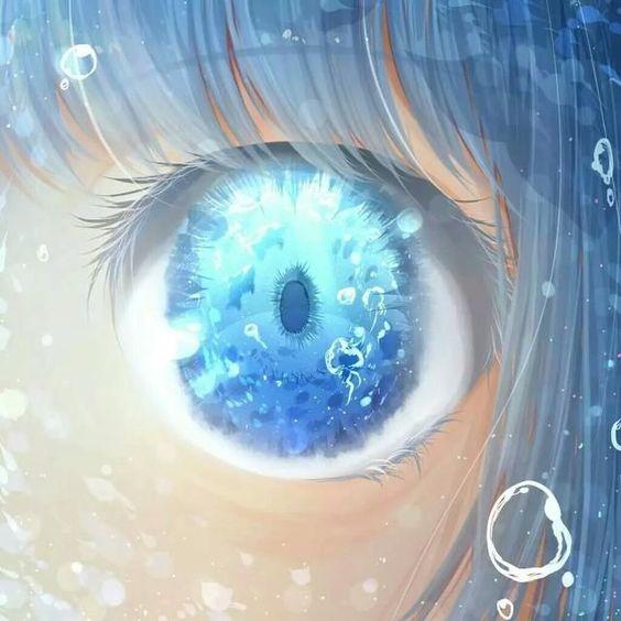 Красивые арт аниме картинки глаза девушек, их лицо - подборка 9