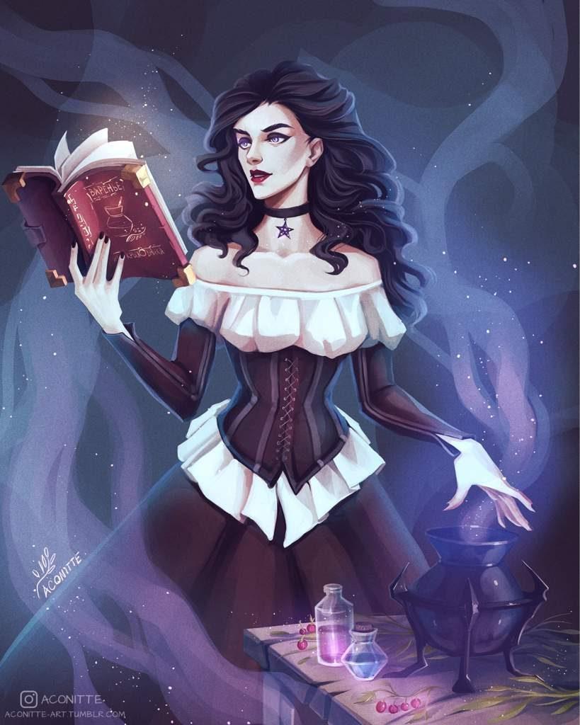 Красивые картинки, арт Йеннифэр из Венгерберга The Witcher 3 Wild Hunt 10