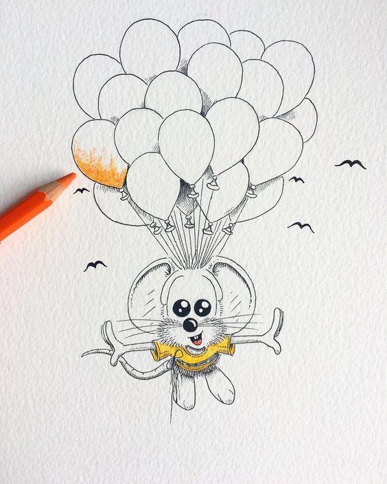Прикольные и красивые картинки, рисунки животных для срисовки 7