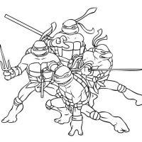 Черепашки Ниндзя - красивые картинки раскраски, рисунки 8