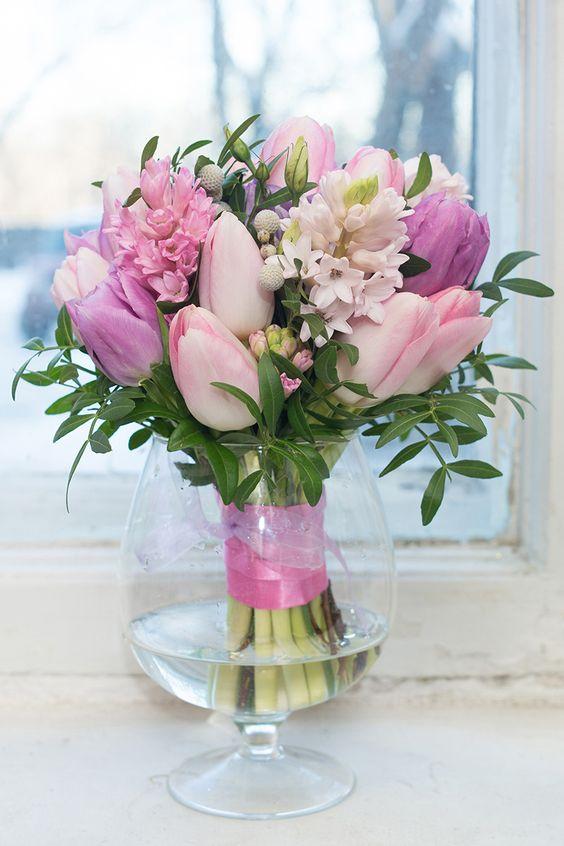 Весенний букет цветов - красивые 20 фото и картинок 18