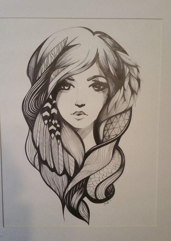 Красивые картинки нарисованных девушек - подборка 17 фото (16)