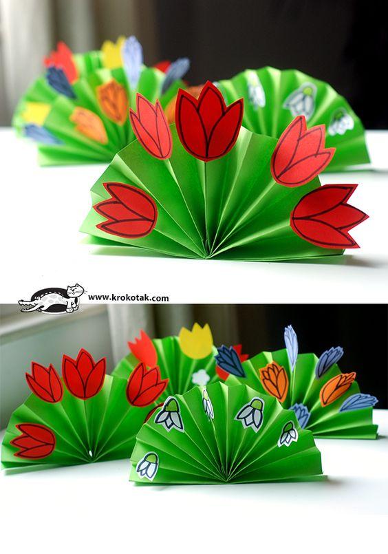 Красивые поделки в садик на тему весна - подборка 20 картинок 12