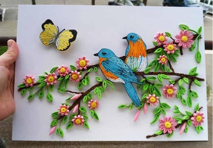 Красивые поделки в садик на тему весна - подборка 20 картинок 18
