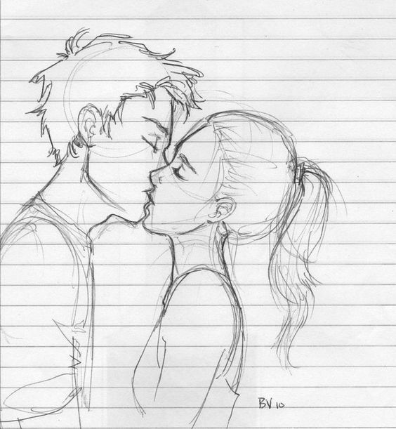 Он и она - картинки карандашом, очень милые рисунки (17)