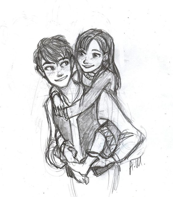 Он и она - картинки карандашом, очень милые рисунки (18)