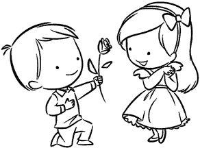 Он и она - картинки карандашом, очень милые рисунки (21)