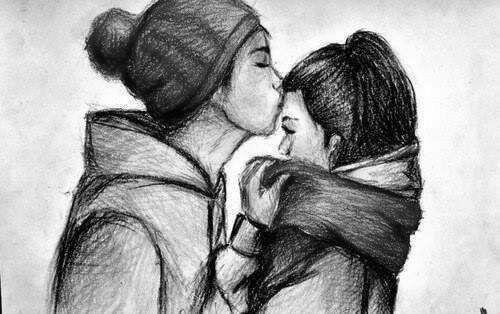Он и она - картинки карандашом, очень милые рисунки (3)