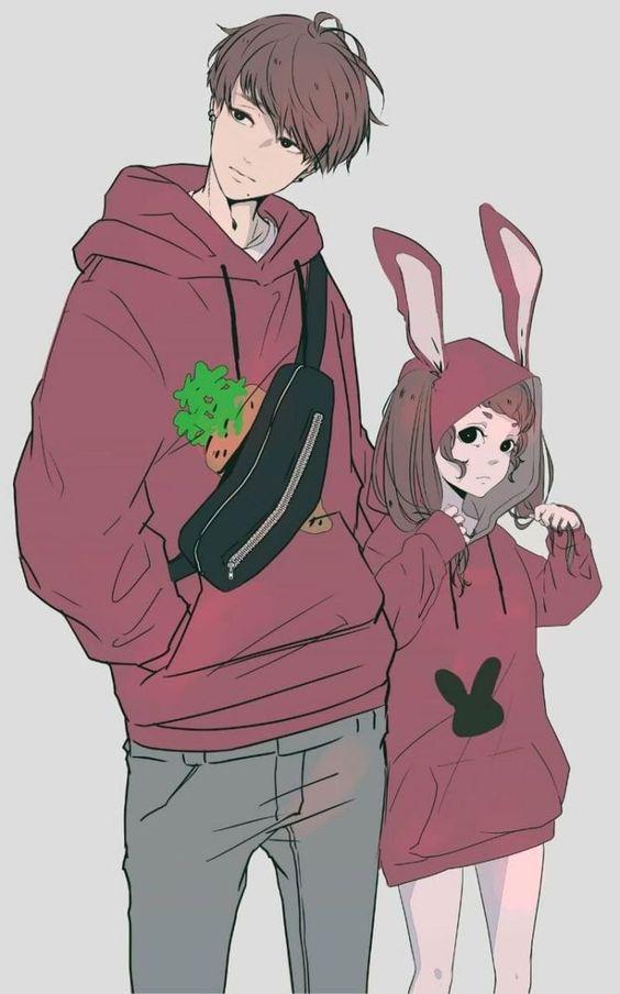 Он и она - картинки карандашом, очень милые рисунки (8)