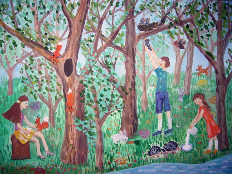 Рисунки Я и моя природа - красивая подборка картинок (16)