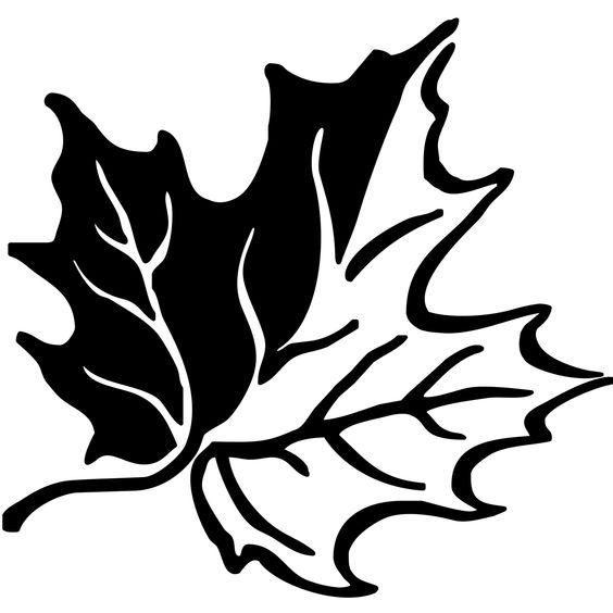 Шаблон кленовый лист, интересные рисунки шаблоны кленовый лист 1