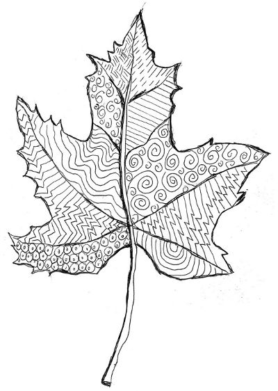 Шаблон кленовый лист, интересные рисунки шаблоны кленовый лист 10