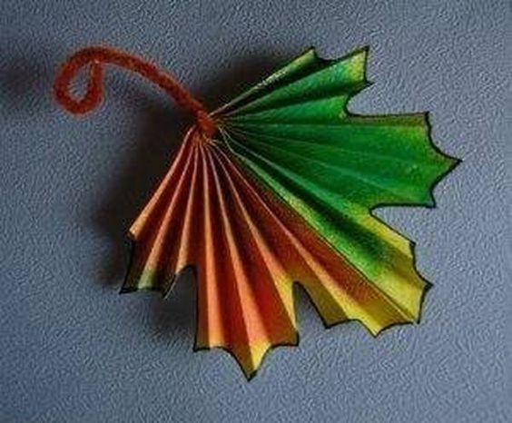 Шаблон кленовый лист, интересные рисунки шаблоны кленовый лист 15