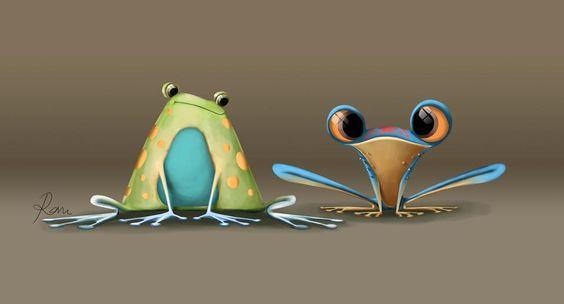 Лягушка рисунок, картинки, изображения - подборка 25 фото 14