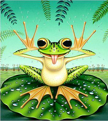 Лягушка рисунок, картинки, изображения - подборка 25 фото 17