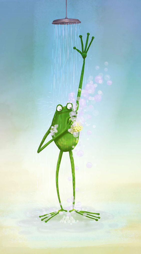 Лягушка рисунок, картинки, изображения - подборка 25 фото 16