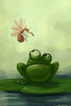 Лягушка рисунок, картинки, изображения - подборка 25 фото 20