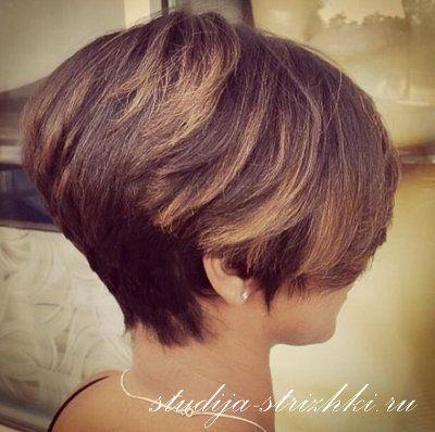 Вид сзади стрижки на короткие волосы - фото, картинки (17)