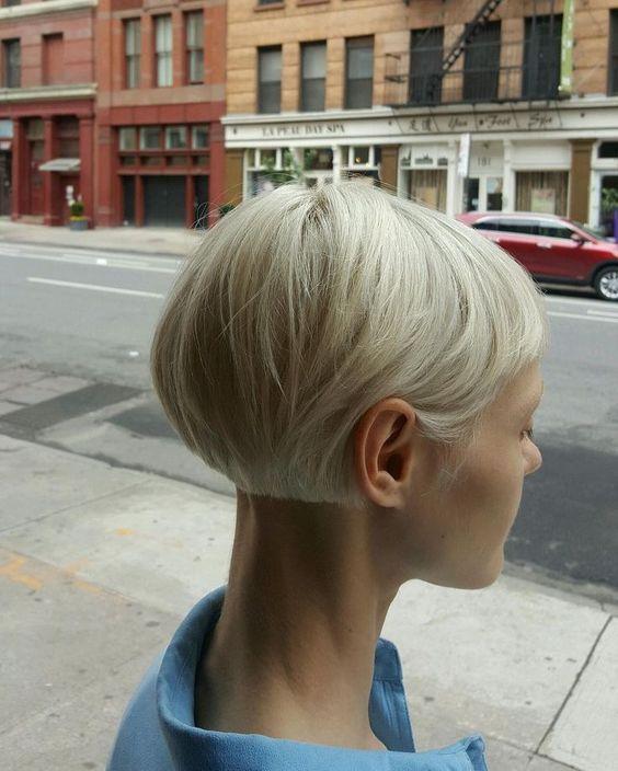 Вид сзади стрижки на короткие волосы - фото, картинки (6)