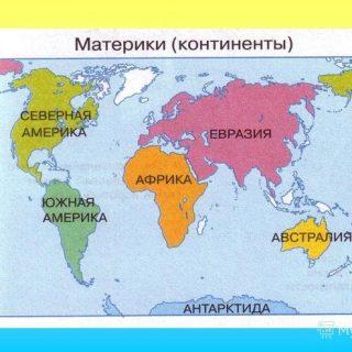 Какие страны и на каких материках расположены 1