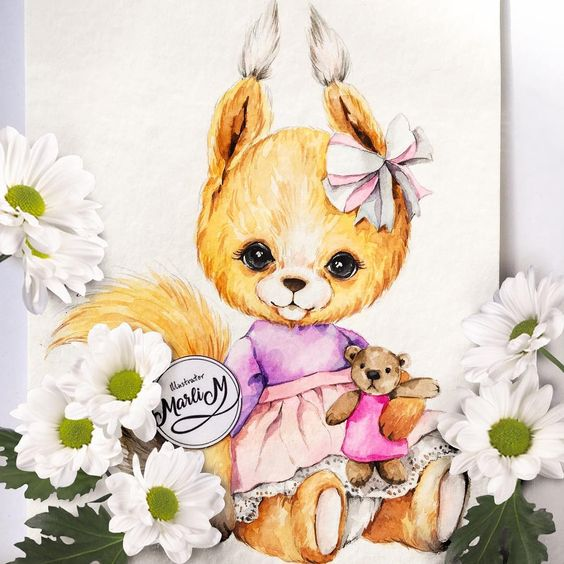 Картинки белка для детей на белом фоне - подборка 20 фото (5)