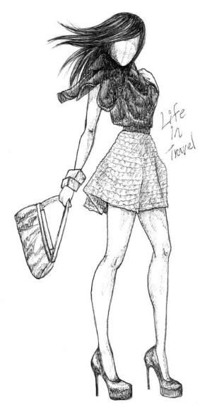 Картинки девушки нарисованные карандашом в полный рост - сборка 25 фото (13)