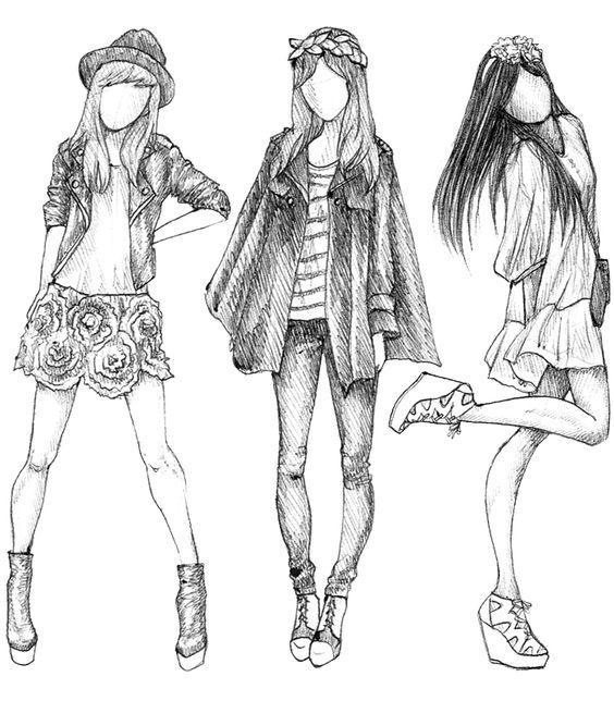 Картинки девушки нарисованные карандашом в полный рост - сборка 25 фото (15)