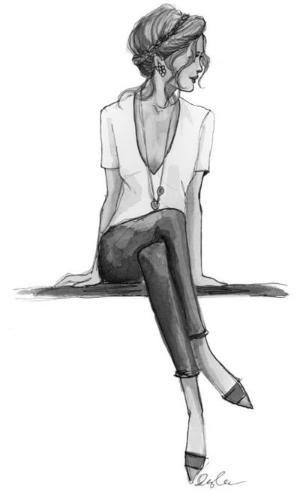 Картинки девушки нарисованные карандашом в полный рост - сборка 25 фото (22)