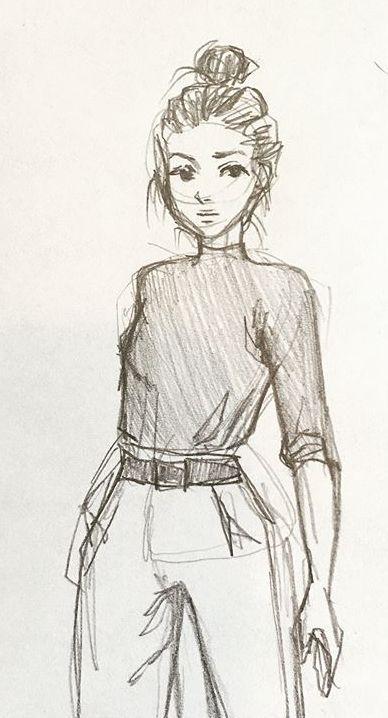 Картинки девушки нарисованные карандашом в полный рост - сборка 25 фото (24)