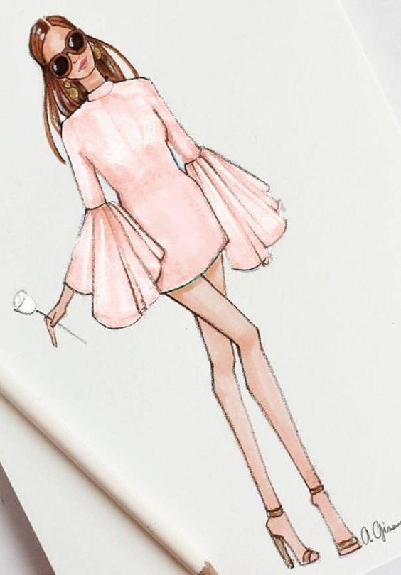 Картинки девушки нарисованные карандашом в полный рост - сборка 25 фото (25)
