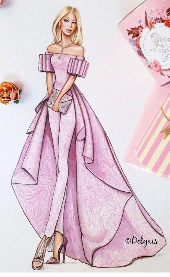Анимация, картинки девушек в платьях нарисованные