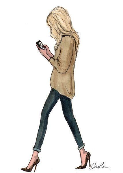 Картинки девушки нарисованные карандашом в полный рост - сборка 25 фото (5)