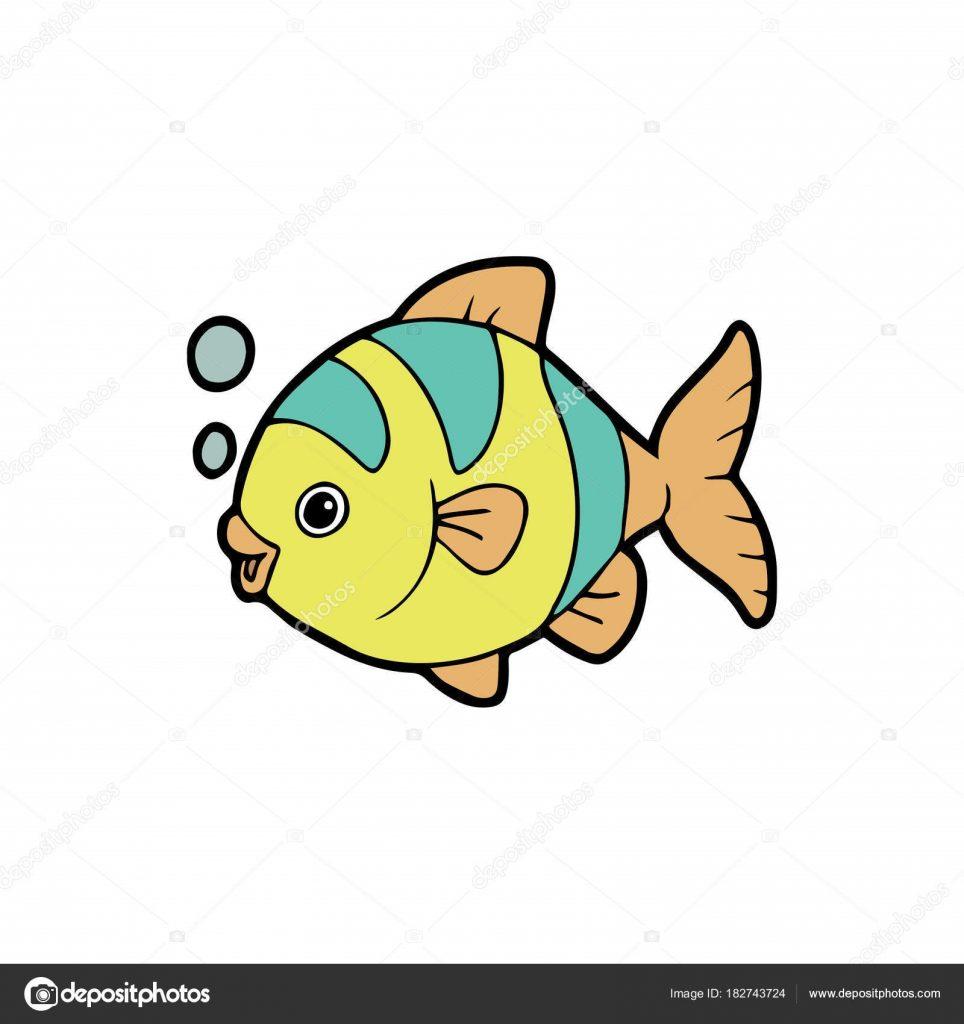 Картинки рыбки для детей на белом фоне (1)