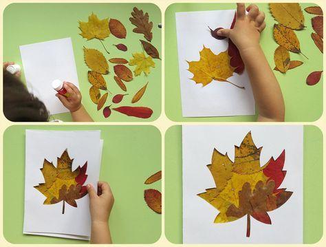 Красивые картины и аппликации из листьев своими руками (10)