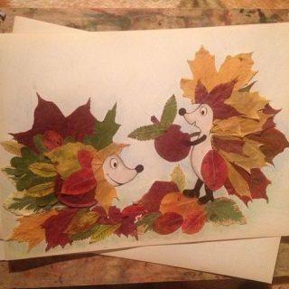 Красивые картины и аппликации из листьев своими руками (16)