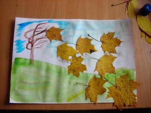 Красивые картины и аппликации из листьев своими руками (19)