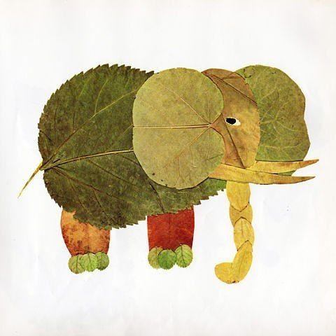 Красивые картины и аппликации из листьев своими руками (3)