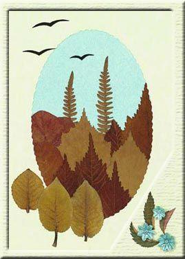 Красивые картины и аппликации из листьев своими руками (5)