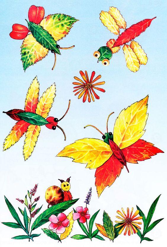 Красивые картины и аппликации из листьев своими руками (6)