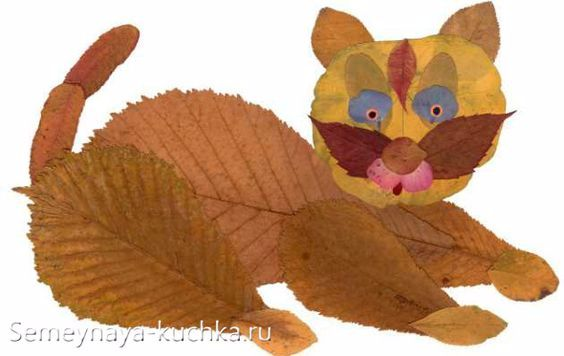 Красивые картины и аппликации из листьев своими руками (7)