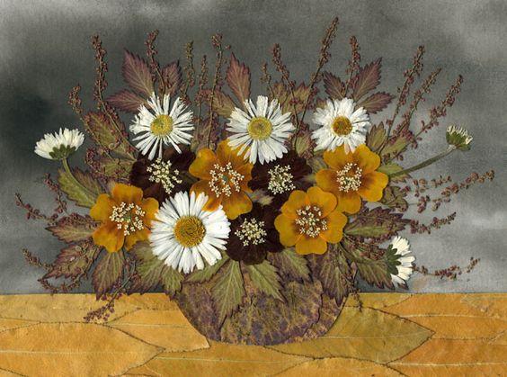 Красивые картины и аппликации из листьев своими руками (8)