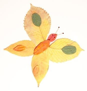 Красивые картины и аппликации из листьев своими руками (9)