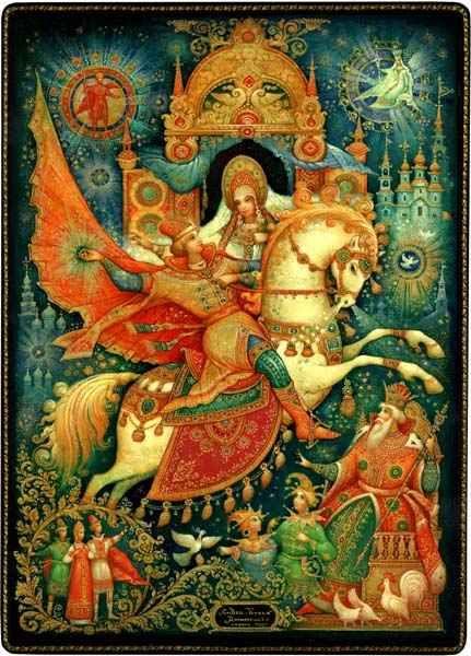 Красивые рисунки о Мёртвой царевне и о семи богатырях (11)