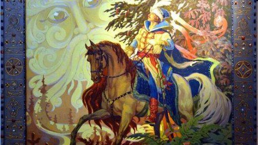 Красивые рисунки о Мёртвой царевне и о семи богатырях (14)