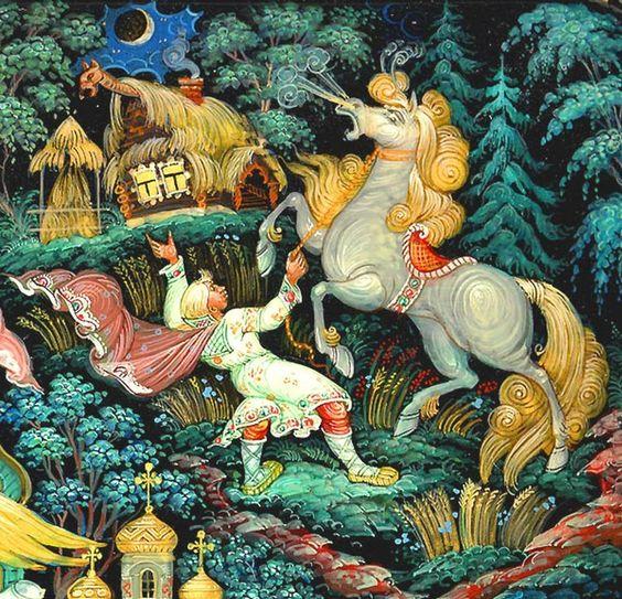 Красивые рисунки о Мёртвой царевне и о семи богатырях (15)
