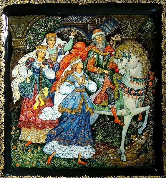 Красивые рисунки о Мёртвой царевне и о семи богатырях (2)