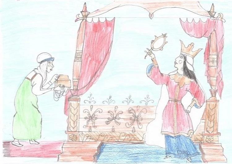 Красивые рисунки о Мёртвой царевне и о семи богатырях (20)