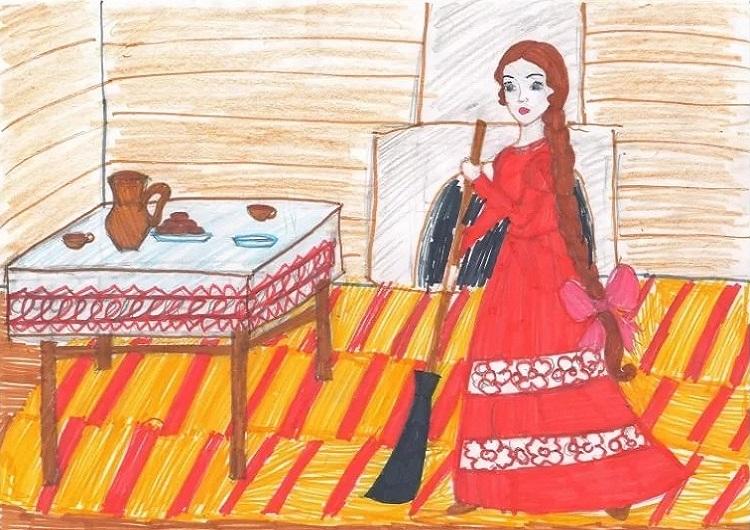 Красивые рисунки о Мёртвой царевне и о семи богатырях (21)