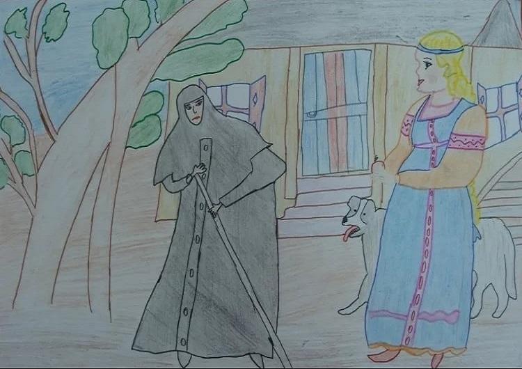Красивые рисунки о Мёртвой царевне и о семи богатырях (22)